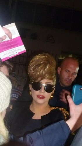 Lady Gaga arriving in St. Petersburg, Russia - 07.11.2012