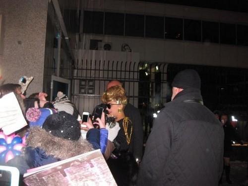 Lady Gaga arriving in St. Petersburg, Russia - 07.11.2012