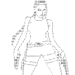 Lara Croft in ASCII, from http://hotarmisticenews.blogspot.com/2009_08_01_archive.html - ascii-art icon