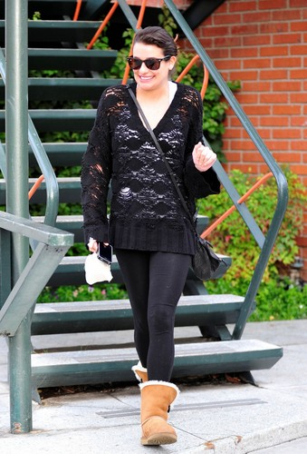 Lea Leaving A Casting Meeting - December 4, 2012