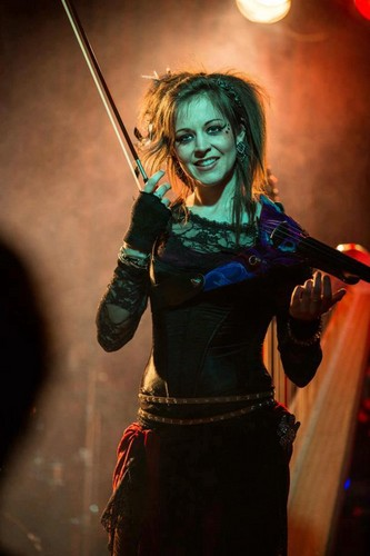 Lindsey Stirling wallpaper possibly containing a concert, a tabard, and a surcoat called Lindsey Stirling
