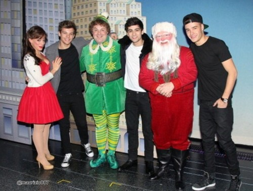 Louis Liam and Zayn Elf backstage
