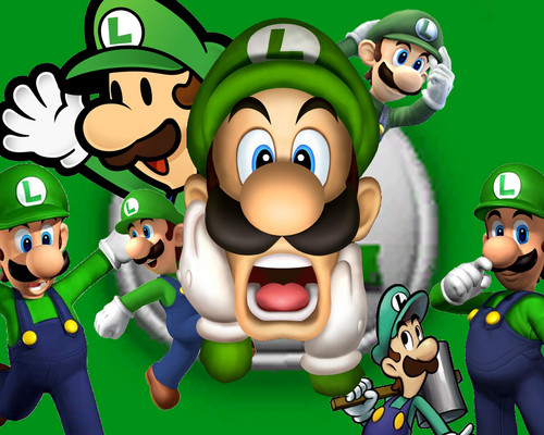 Super Mario Hintergrund containing Anime titled Luigi