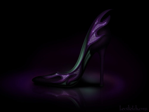 Maleficient inspired shoe