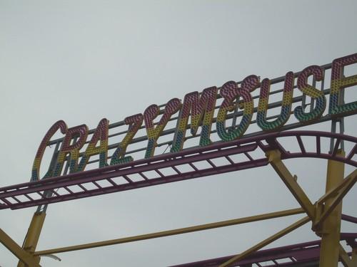 Martin's Fantsy Island Crazy 쥐, 마우스 coaster sign