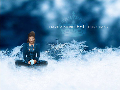 Once Upon A Time wallpaper containing tobogganing titled Merry EVIL Christmas