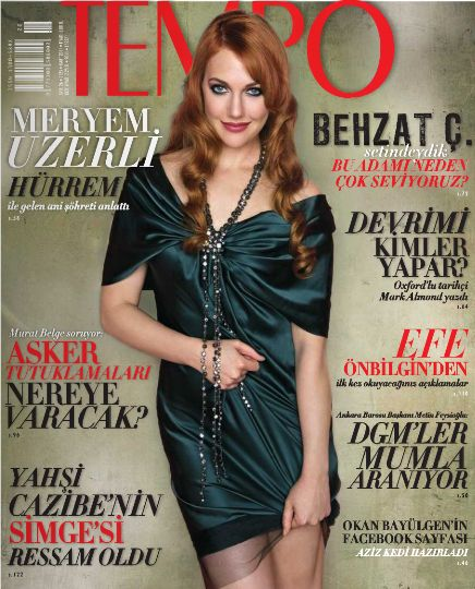 Turkish actors and actresses meryem uzerli on the cover of turkish