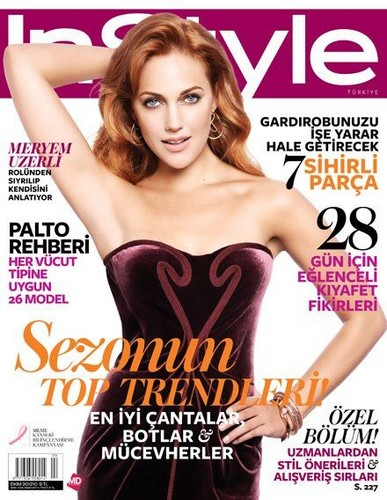 Meryem Uzerli on the cover of Instyle magazine