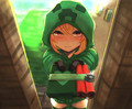 Minecraft Creeper Girl Cupa with a Gift - minecraft photo