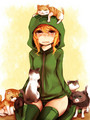 Minecraft Creeper Girl Cupa & Kittys - minecraft photo