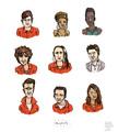 Misfits Cast - misfits-e4 fan art