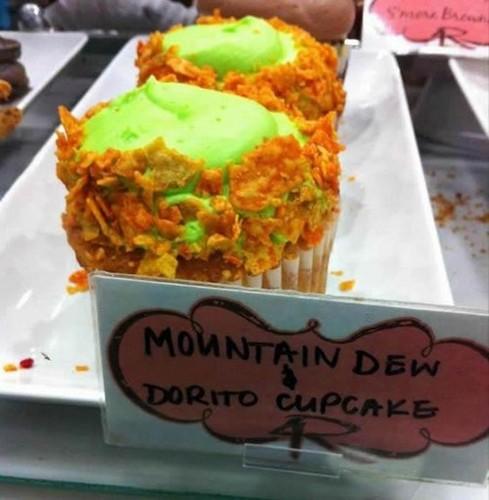 Mountain Dew and Dorito cupcakes