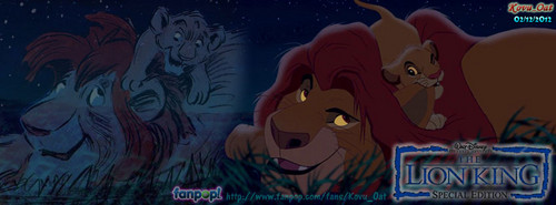 Mufasa Simba Night Stars facebook cover
