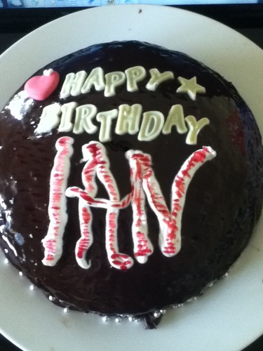 My घर made Birthday cake 4 Ian