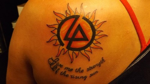 Linkin Park fond d'écran titled My new Tatoo