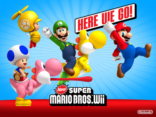 Super Mario Bros. wallpaper called New super Mario bros wii