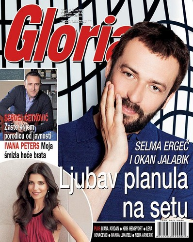 Turkish Actors and Actresses wallpaper containing anime called Okan Yalabik on the cover of Serbian magazine Gloria