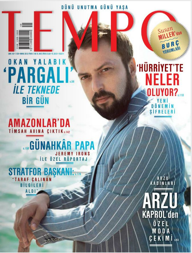 Okan Yalabik on the cover of Turkish magazine Tempo