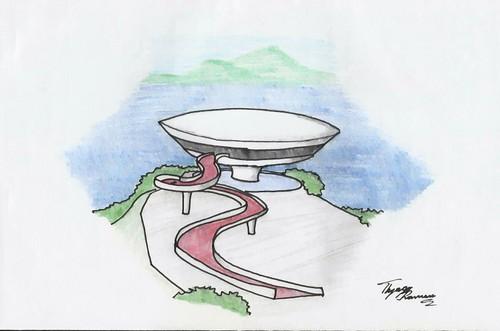 Architecture Hintergrund called Oscar Niemeyer
