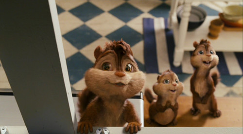 Alvin and the Chipmunks wallpaper possibly with a sign, a tom, and a kitten called Pantry Scene