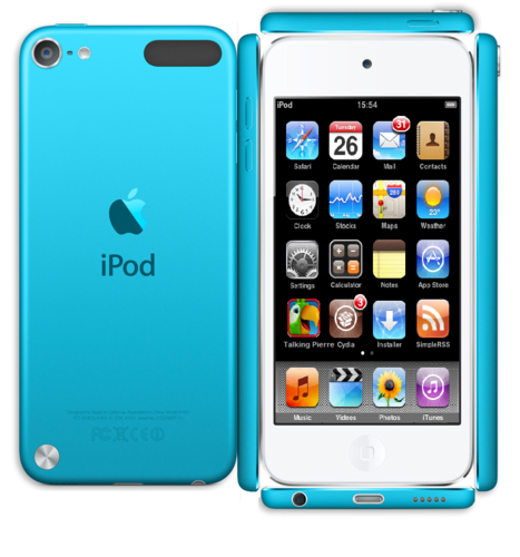 Paper Blue ipod Touch