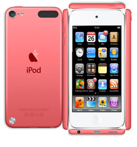 Paper rosa ipod Touch