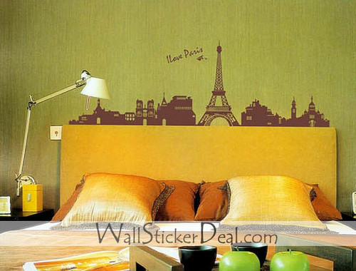 Paris Eiffel Tower دیوار Sticker