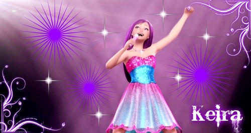 Barbie the Princess and the popstar wallpaper containing a dinner dress entitled Popstar Keira