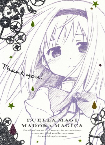 Puella Magi Madoka Magica karatasi la kupamba ukuta titled Puella Magi Madoka☆Magica