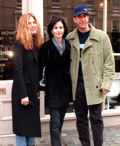 Rachel, Monica, Ross