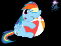 Rainbow dash and a beach ball