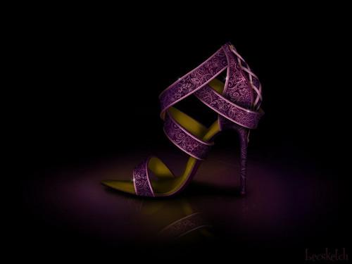 Rapunzel inspired shoe