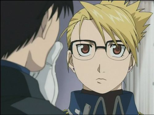 Riza Hawkeye Anime/Manga achtergrond with anime entitled Riza with glasses