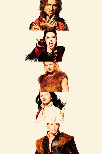 Rumple, Regina, Emma, Snow & Charming