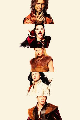 Rumple, Regina, Emma, Snow & Charming