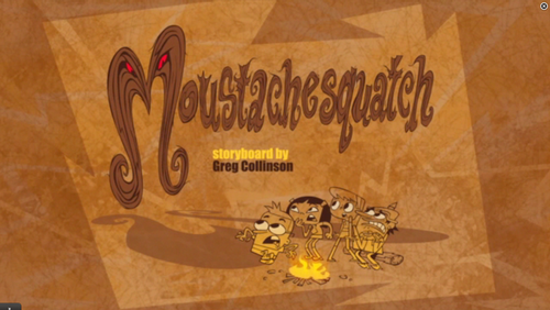 "Cartoon Network's Sidekick wallpaper possibly with a sign titled Sidekick: ""Mustashesquatch"" title card"