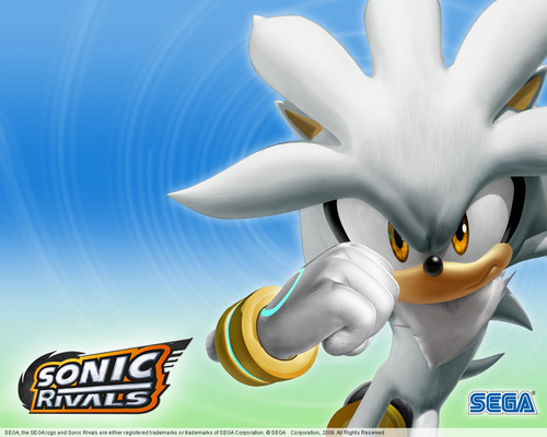 Silver the Hedgehog wallpaper possibly containing a triceratops called Silver