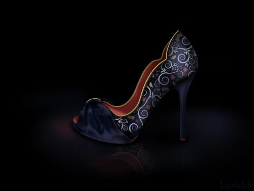 Snow white inspired shoe