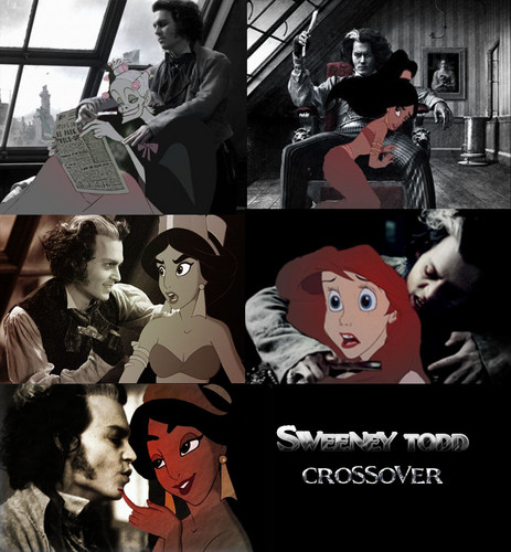 disney crossover wallpaper containing anime entitled Sweeney Todd crossover