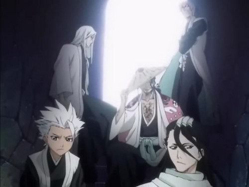 Tōshirō, Byakuya, Gin, Ukitake & Kyoraku