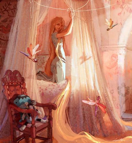 Công chúa tóc mây - concept art