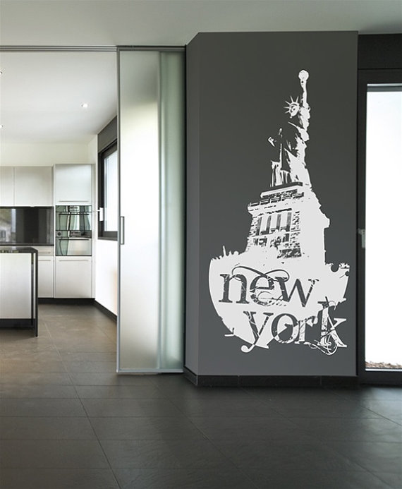 The new york statue of liberty wall stickers home for New york home decorations