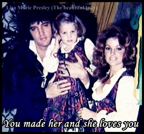 Elvis Aaron Presley and Lisa Marie Presley wolpeyper containing anime titled The Presley Familt