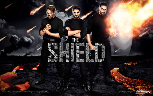 WWE wallpaper with a fire, a fire, and a fireplace called The Shield