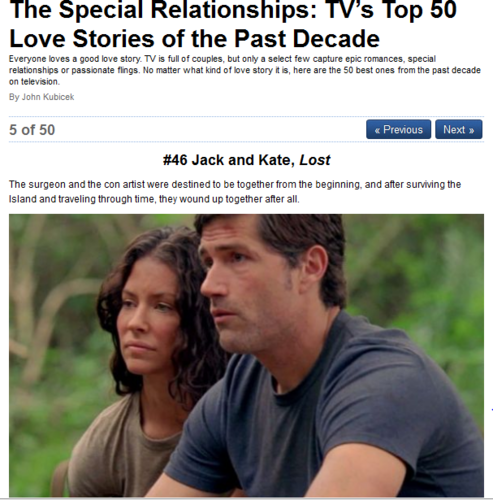 The Special Relationships: TV's Top 50 Love Stories of the Past Decade