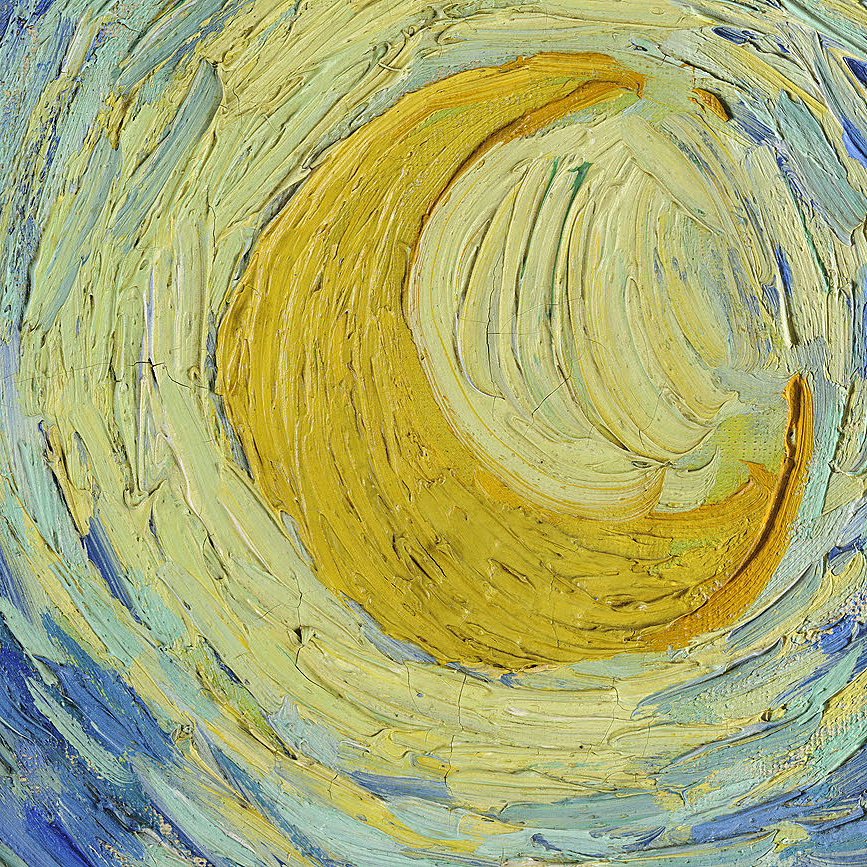 The Starry Night por Vincent furgão, van Gogh (Detail)