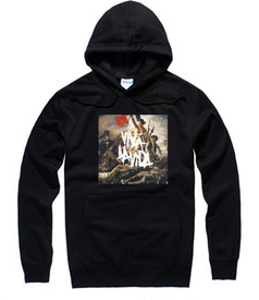 The 酷玩乐队 rock band fashion pull over hoodie
