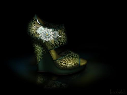 Tiana inspired shoe