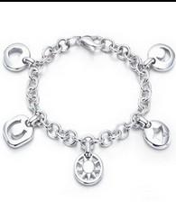 Tiffany Pierced Charm Bracelet