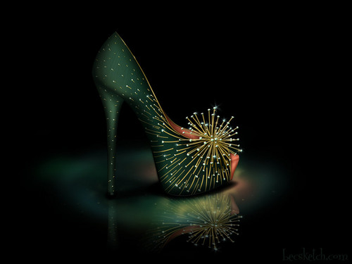 Tinkerbell inspired shoe